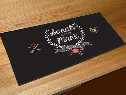 Personalised Wedding laurel bar runner
