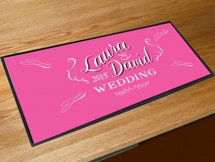 Personalised Wedding Chalkboard script bar runner