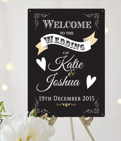 Personalised Welcome to the Wedding Sign
