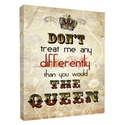 The Queen canvas art print