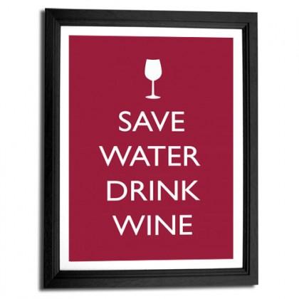 Save water drink wine canvas art