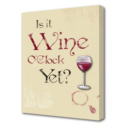 Wine O'Clock canvas art print