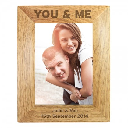 Personalised You & Me 6x4 Wooden Frame
