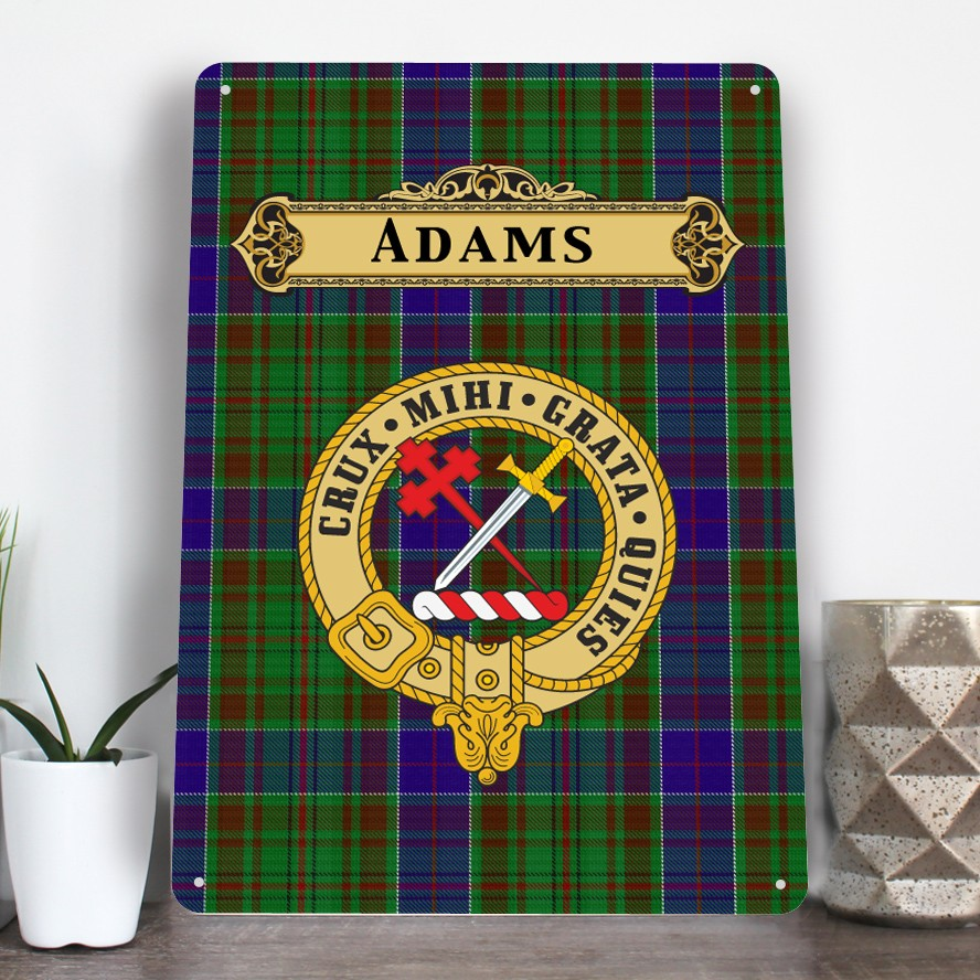 Scottish Clan Family Name Tartan Aluminium A4 Metal Sign