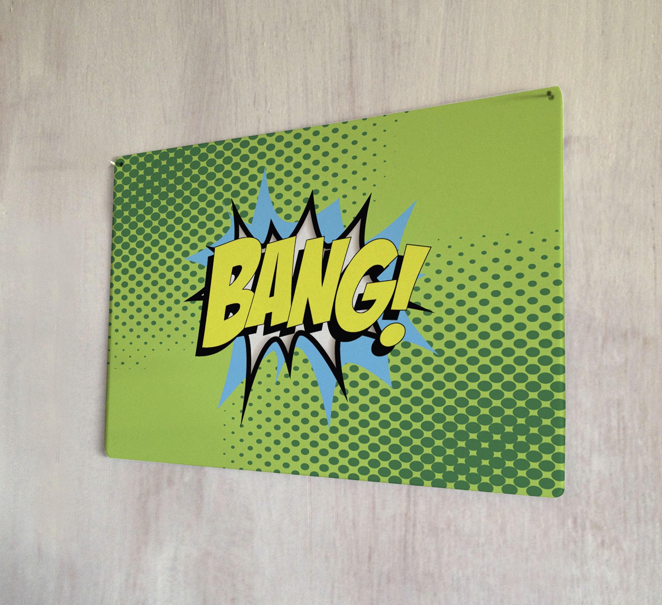 Bang Comic Metal Sign