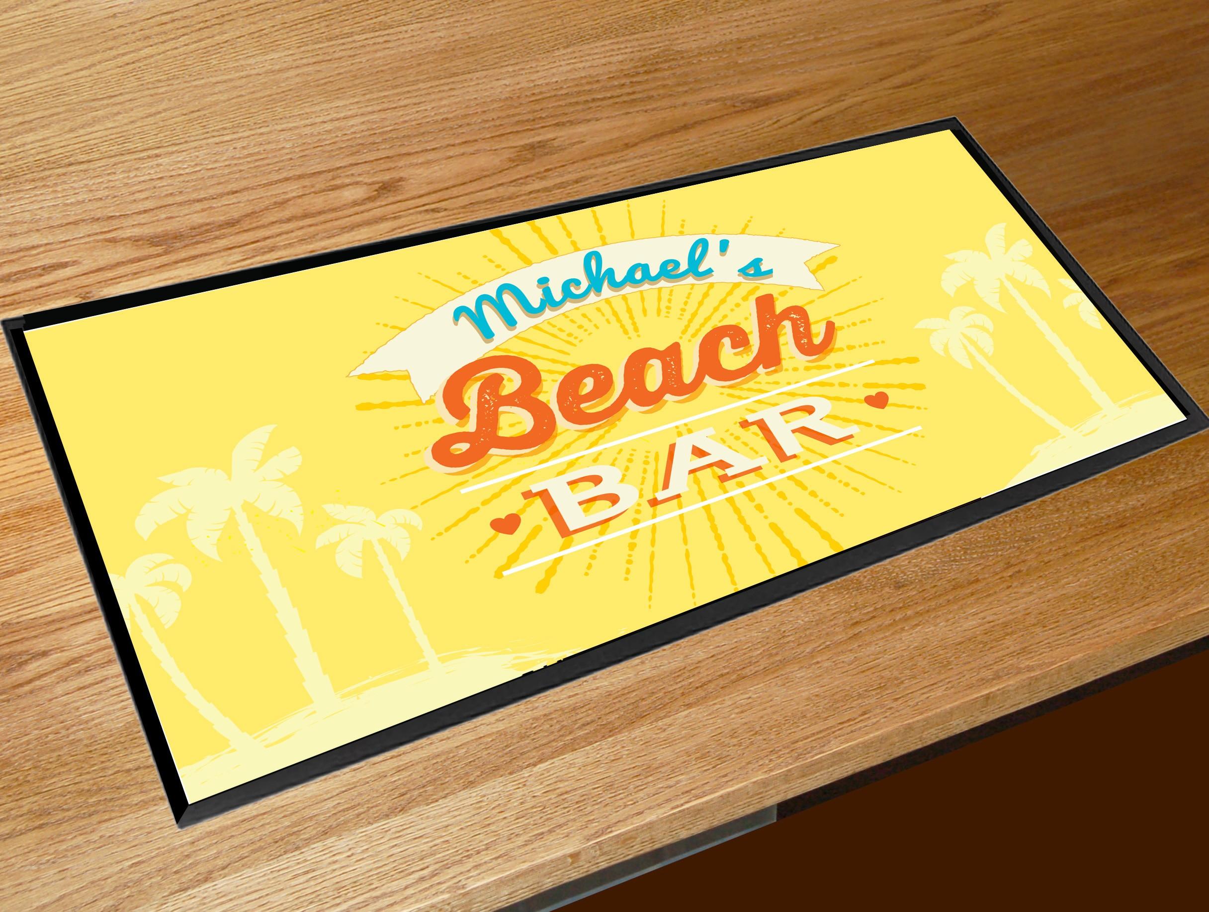Personalised Beach Bar Runner