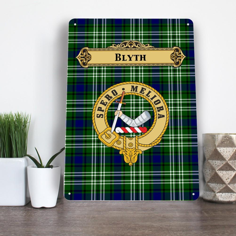 Scottish Clan Family Name Tartan Aluminium A4 Metal Sign