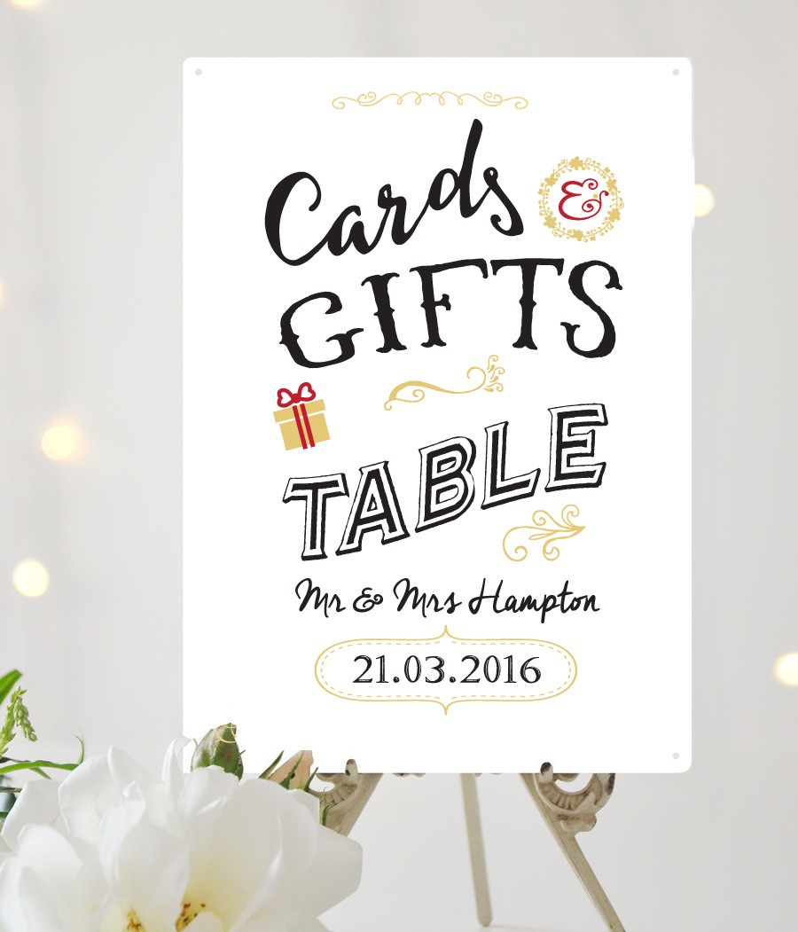 Wedding Gift Card Uk : Cards & Gifts personalised Wedding sign