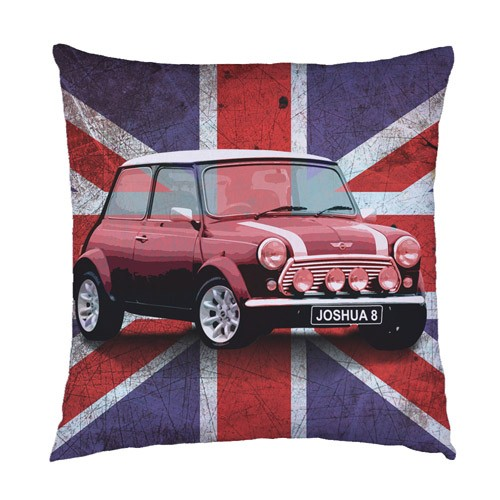 personalised union jack mini cushion. Black Bedroom Furniture Sets. Home Design Ideas