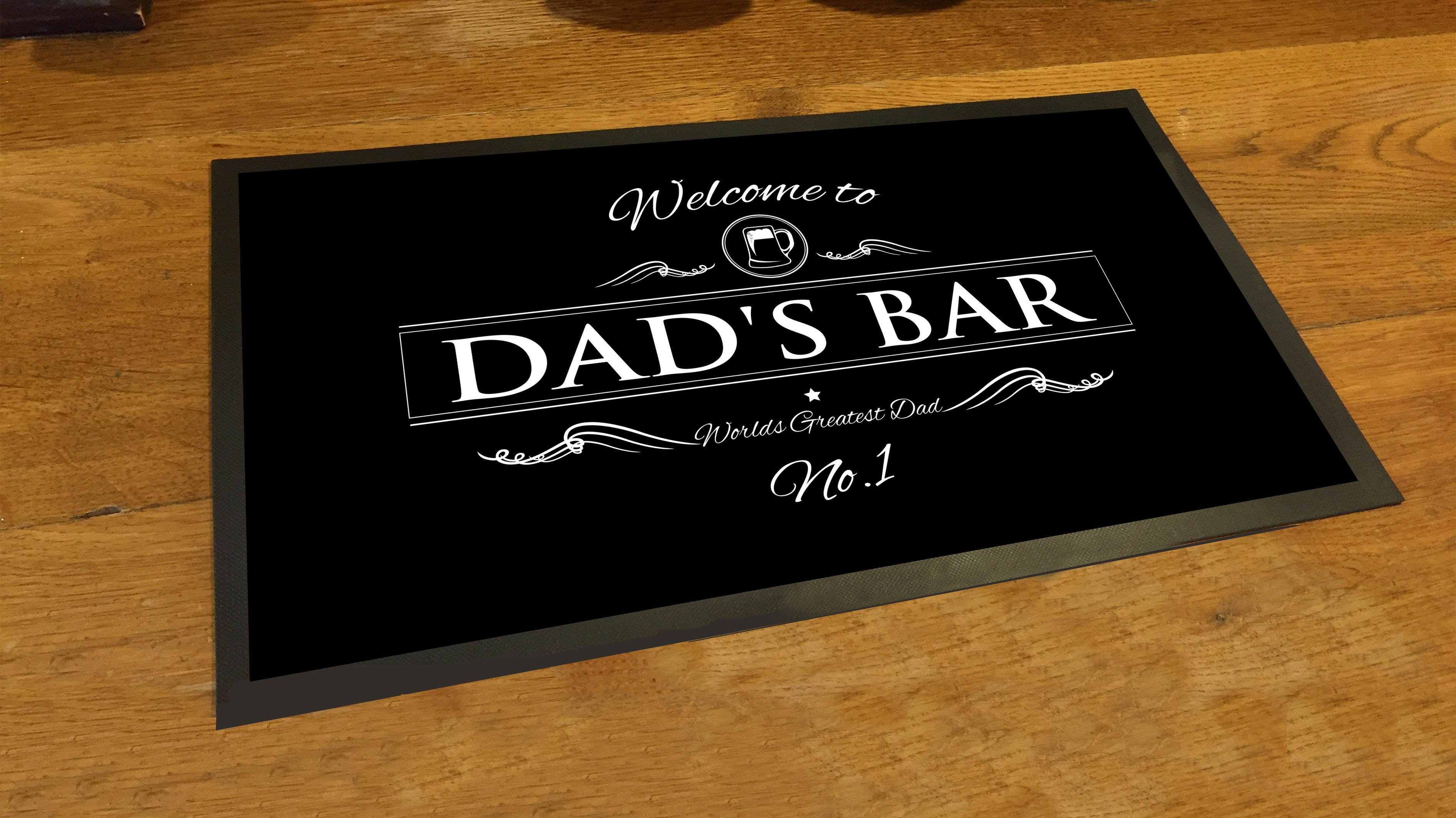 Welcome To Dads Bar Runner Beer Pub Mat