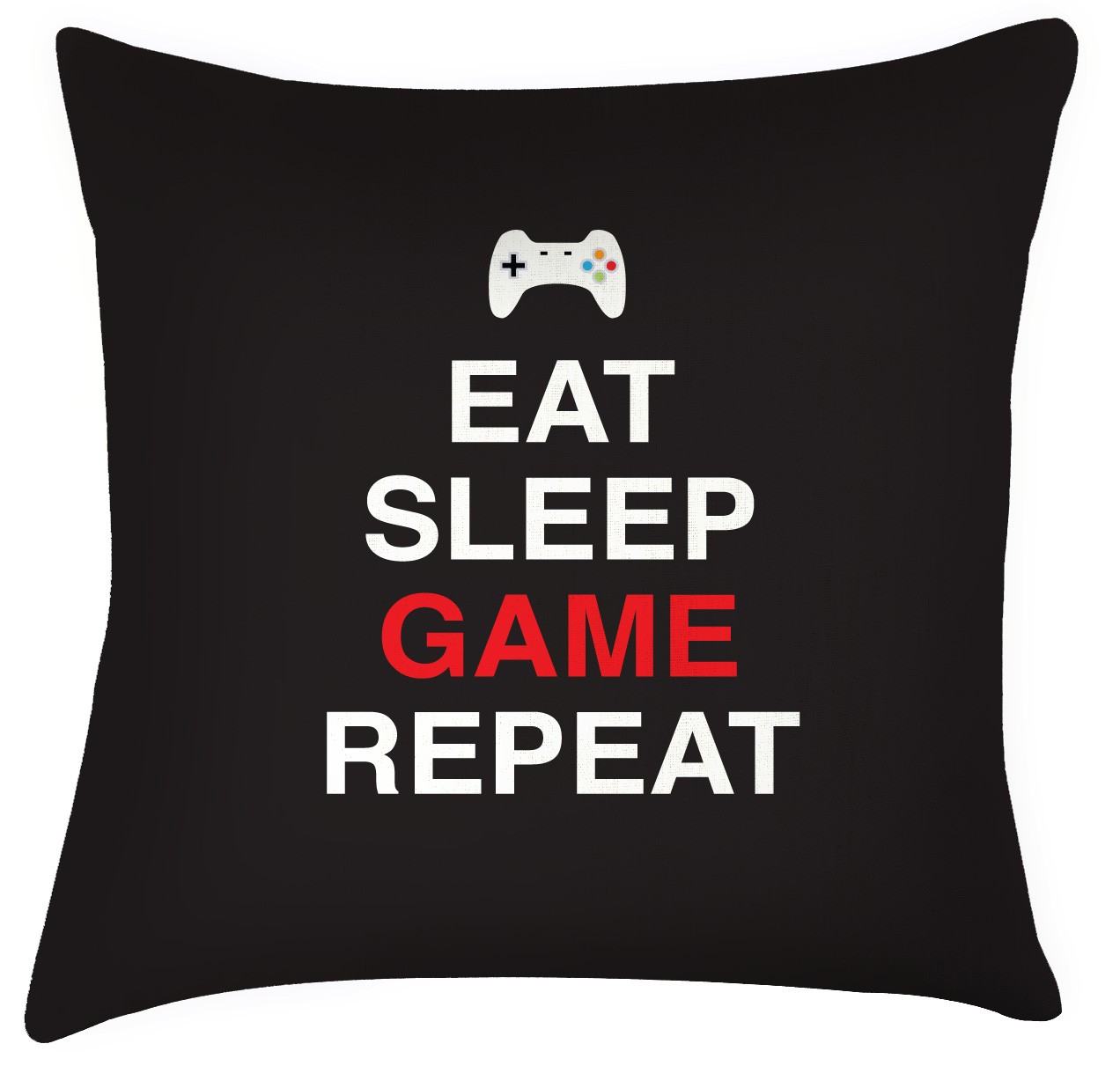 Eat Sleep Game Repeat Cushion Great Fathers Day Gift