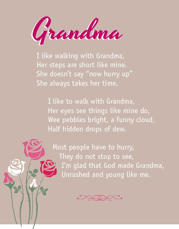 Not Poem for granny congratulate, what