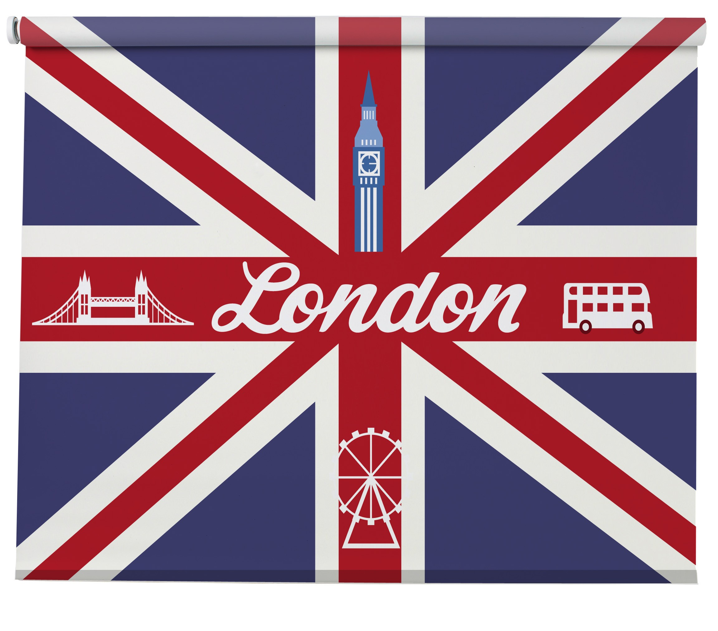 London Union Jack Blind Picture Printed Blinds At