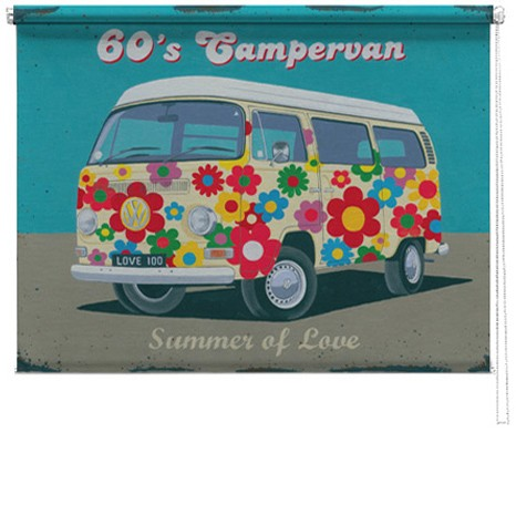 60 S Campervan Printed Blind By Martin Wiscombe Picture