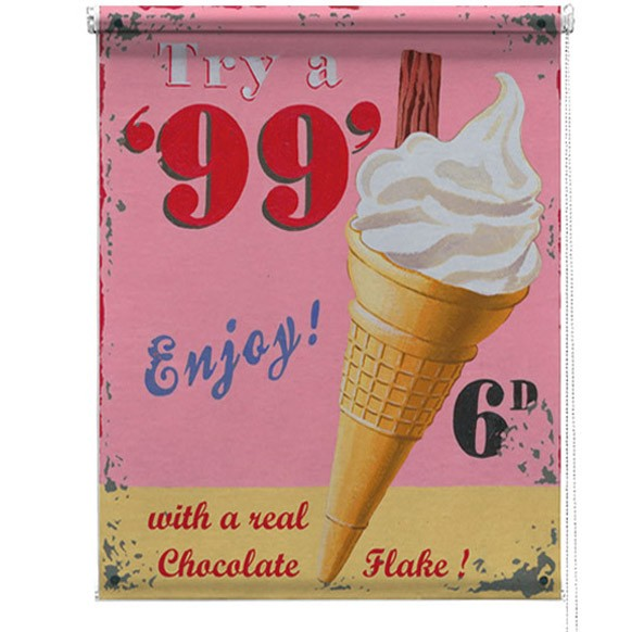 99 Ice Cream Martin Wiscombe Printed Blind Picture
