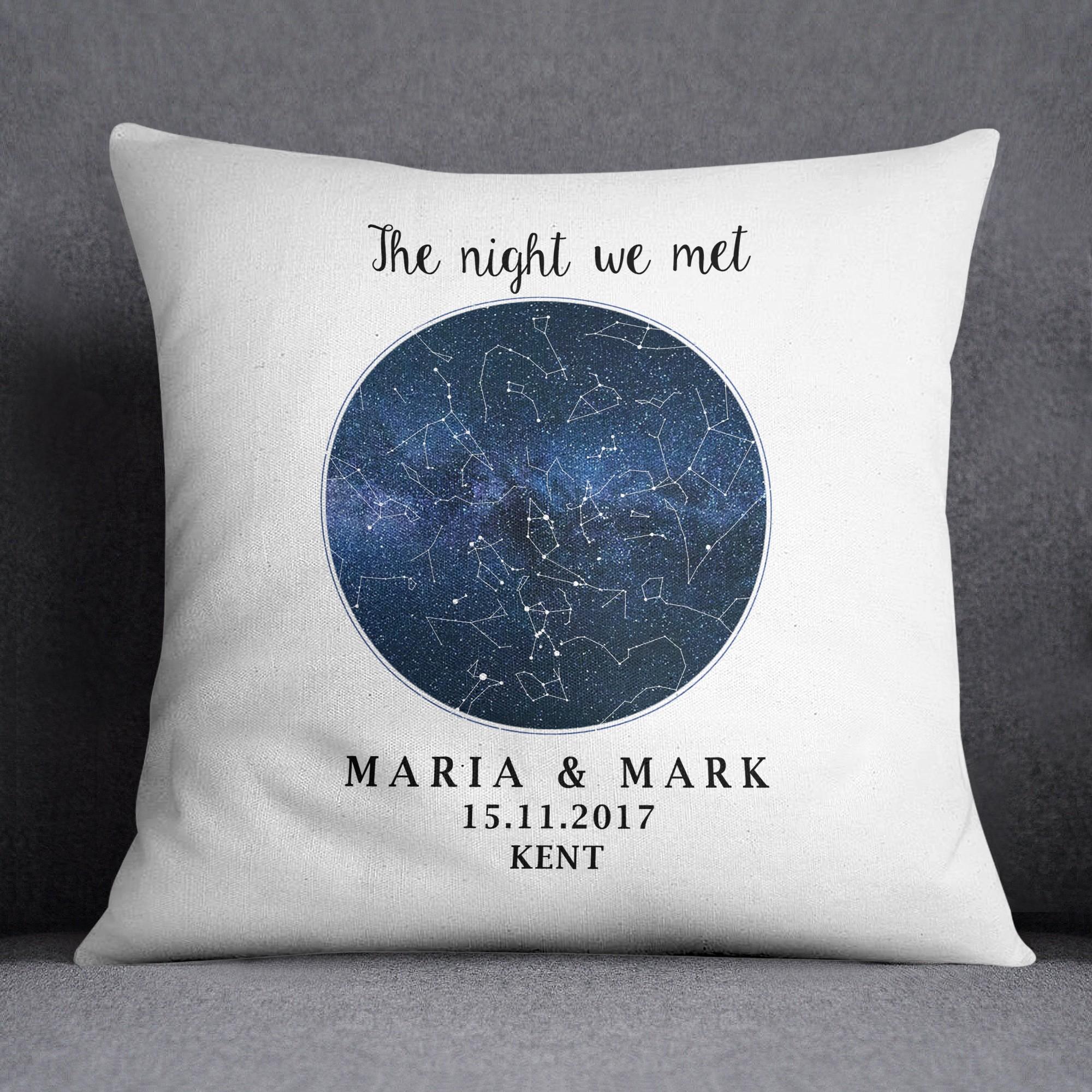 Birthday Star MapCustom Map Cushion Night Sky Wedding Gift