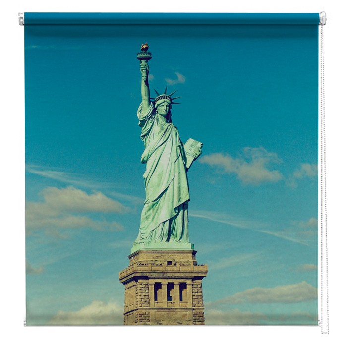 Statue Of Liberty Vintage New York Printed Blind