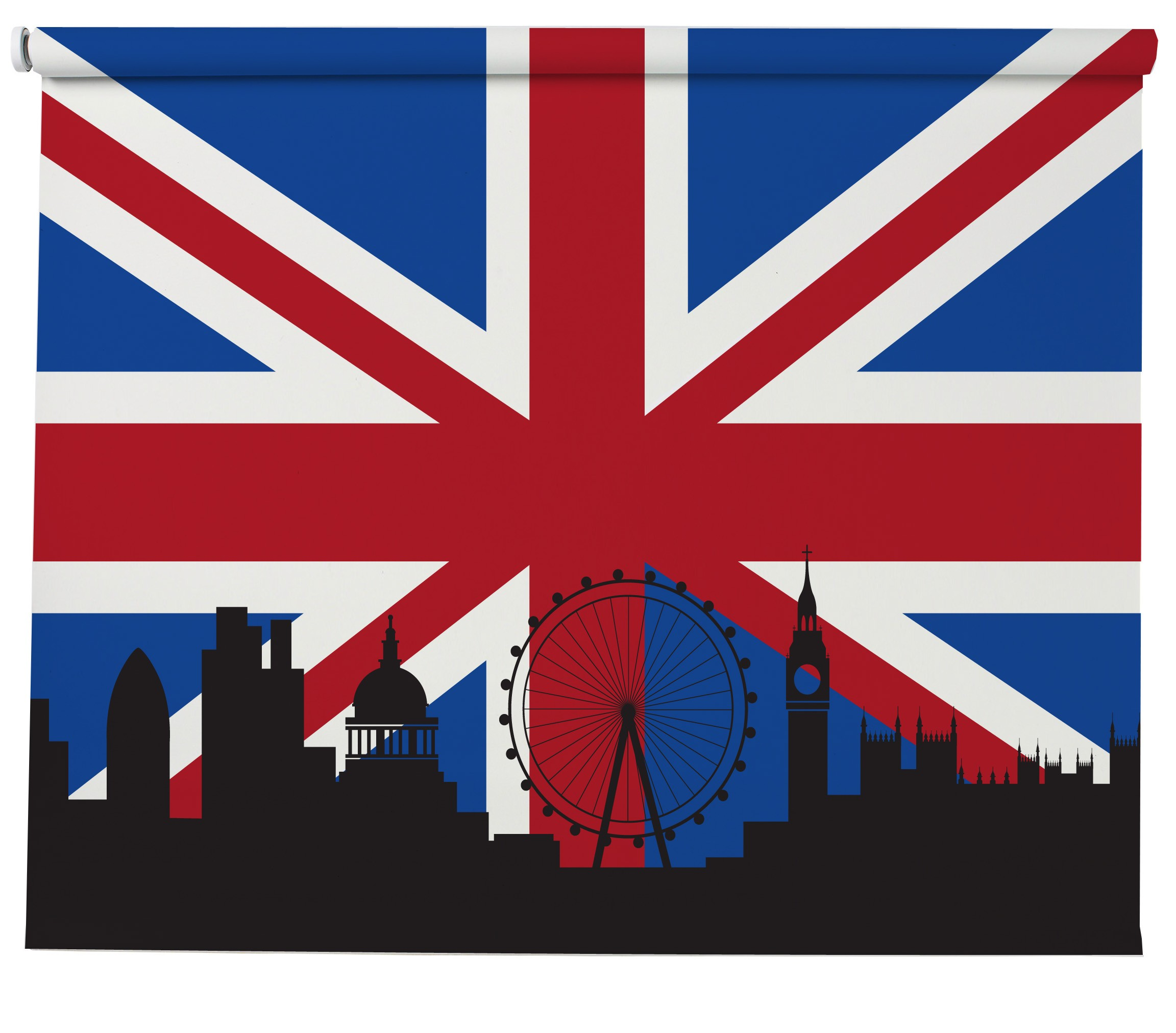 Schoudertas Union Jack : Union jack london skyline blind picture printed blinds