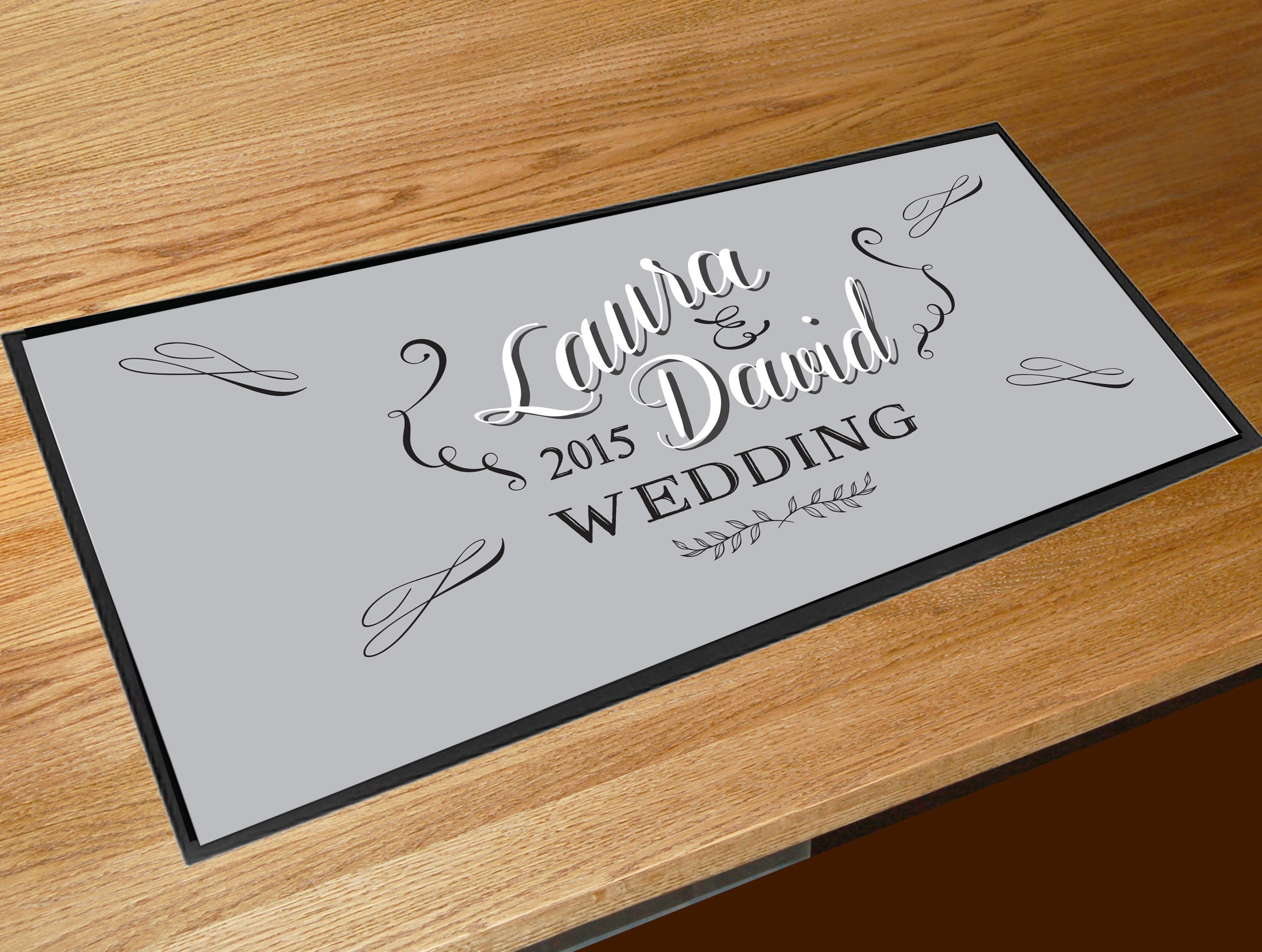 Wedding Gifts For Runners : ... Wedding Gifts ? Personalised Wedding Chalkboard script bar runner