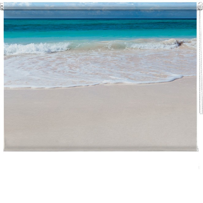 White Beach Printed Blind Picture Printed Blinds At