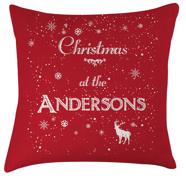 personalised christmas name cushion