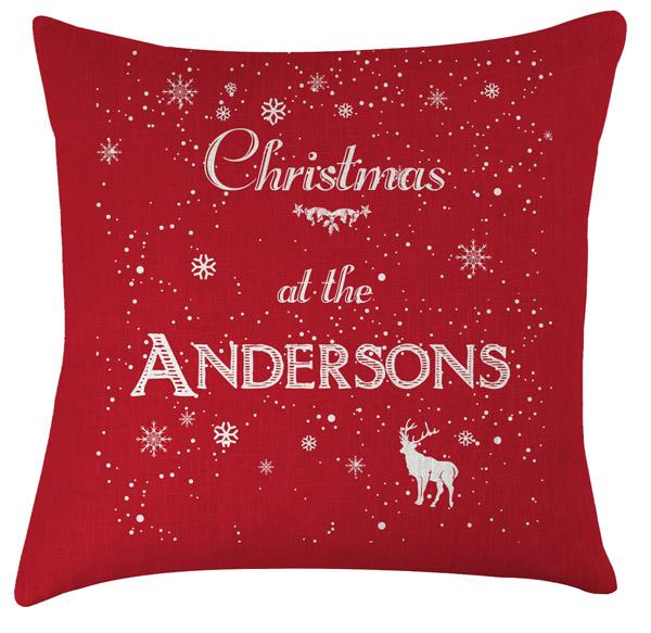 personalised christmas name cushion