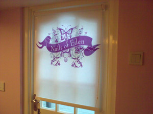 printed logo blinds